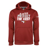 Under Armour Cardinal Performance Sweats Team Hoodie-Always Protect The Nest