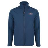 Navy Softshell Jacket-Eagle Head w/ Eagles