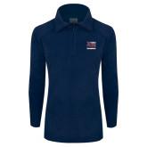 Columbia Ladies Half Zip Navy Fleece Jacket-Primary Mark