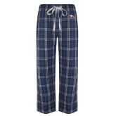 Navy/White Flannel Pajama Pant-Eagle Head w/ Eagles