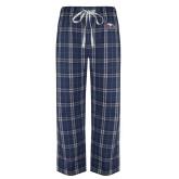Navy/White Flannel Pajama Pant-Eagle Head w/ Eagles