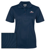 Ladies Navy Dry Mesh Polo-Eagle Head w/ Eagles
