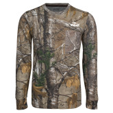 Realtree Camo Long Sleeve T Shirt w/Pocket-Eagle Head w/ Eagles