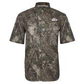 Camo Short Sleeve Performance Fishing Shirt-Eagle Head w/ Eagles