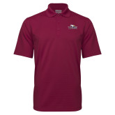 Maroon Mini Stripe Polo-Eagle Head w/ Eagles