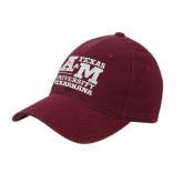 Maroon Flexfit Mid Profile Hat-Primary Mark