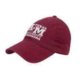 Maroon Twill Unstructured Low Profile Hat-Primary Mark