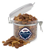 Deluxe Nut Medley Round Canister-Eagle Head w/ Eagles