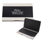 Bey Berk Carbon Fiber Business Card Holder-Eagle Head w/ Eagles Engraved