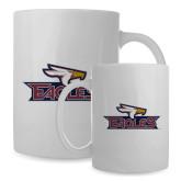 Full Color White Mug 15oz-Eagle Head w/ Eagles