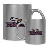 Full Color Silver Metallic Mug 11oz-Eagle Head w/ Eagles