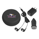 3 in 1 Black Audio Travel Kit-Eagle Head w/ Eagles