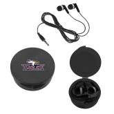 Ear Buds in Black Case-Eagle Head w/ Eagles