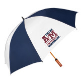 62 Inch Navy/White Umbrella-Primary Mark