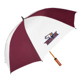 62 Inch Maroon/White Umbrella-Eagle Head w/ Eagles