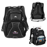 High Sierra Swerve Black Compu Backpack-Eagle Head w/ Eagles
