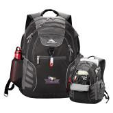 High Sierra Big Wig Black Compu Backpack-Eagle Head w/ Eagles