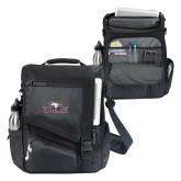 Momentum Black Computer Messenger Bag-Eagle Head w/ Eagles