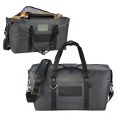 Cutter & Buck Pacific Series Black Weekender Duffel-TKE Debossed