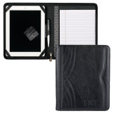 Kate Deco Tech Black Padfolio-TKE Debossed