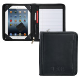 Millennium Black Leather eTech Writing Pad-TKE Debossed