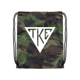 Nylon Camo Drawstring Backpack-Houseplate