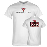 White T Shirt-House Plate Tau Kappa Epsilon
