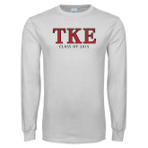 White Long Sleeve T Shirt-TKE Class Of
