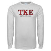 White Long Sleeve T Shirt-TKE Class Of