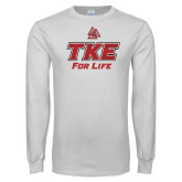 White Long Sleeve T Shirt-TKE 4 Life