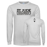 White Long Sleeve T Shirt-St Jude Childrens Research Hospital