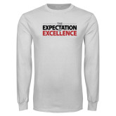 White Long Sleeve T Shirt-The Expectation of Excellence