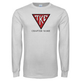 White Long Sleeve T Shirt-Houseplate - Chapter Name