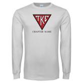 White Long Sleeve T Shirt-Houseplate - Chapter Name