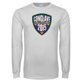 White Long Sleeve T Shirt-Conclave 2015