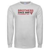 White Long Sleeve T Shirt-Brothers Since 1899