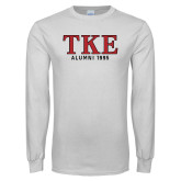 White Long Sleeve T Shirt-TKE Alumni Year