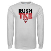 White Long Sleeve T Shirt-Rush TKE