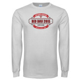 White Long Sleeve T Shirt-Bid Day - Chapter Name