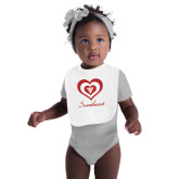White Baby Bib-Triple Heart Sweetheart Design