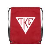 Nylon Cardinal Drawstring Backpack-Houseplate