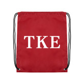 Nylon Cardinal Drawstring Backpack-TKE