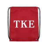 Nylon Cardinal Drawstring Backpack-TKE