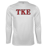 Syntrel Performance White Longsleeve Shirt-TKE