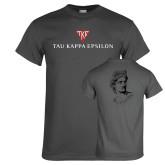 Charcoal T Shirt-House Plate Tau Kappa Epsilon
