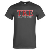 Charcoal T Shirt-TKE Chapter Name