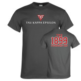 Charcoal T Shirt-House Plate Tau Kappa Epsilon