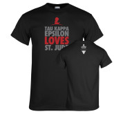 Black T Shirt-Tau Kappa Epsilon Loves St Jude