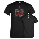 Black T Shirt-Tau Kappa Epsilon Loves St Jude
