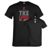 Black T Shirt-TKE Loves St Jude